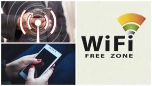 Бесплатный Wi-Fi и телефон в руках